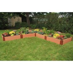 Frame It All 1-inch Series Composite L-Shaped Raised Garden Bed Kit - 12ft. x 12ft. x 11in. - 300001168