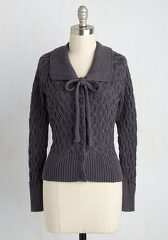 Classic vintage style sweater - Cable to Make It Cardigan $59.99 AT vintagedancer.com