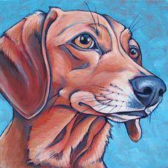8 x 8 Custom Pet Portrait Painting in Acrylics by bethanysalisbury, $90.00