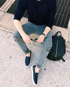 "One Dapper Street on Instagram: ""ripped jeans are easily my faves these days."""