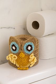 Ravelry: Retro Owl Toilet Roll Cover pattern by Rebecca J. Venton