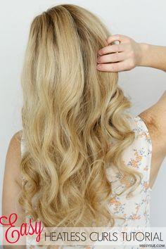 Easy Heatless Curls Tutorial