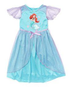 Loving this Blue Ariel Nightgown - Toddler on #zulily! #zulilyfinds