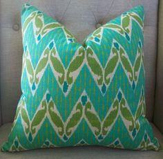 love!! my fav colors!!!!  and I have a slight pillow obsession.....
