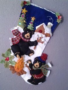 Playful Bears Christmas Stocking