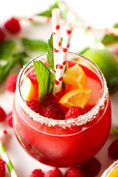 Raspberry Lemonade with Fresh Mint