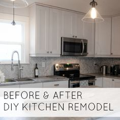 WHITE, BRIGHT BEFORE & AFTER A DIY KITCHEN RENOVATION