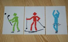 Sochi 2014 Winter Olympics' Logo and Pictograms Winter Crafts For Toddlers, Winter Activities For Kids, Christmas Art Projects, Sport Craft, Fathers Day Crafts, Kid Crafts, Art Lessons Elementary, Sports Art, Teaching Art