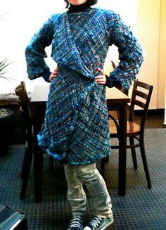 Patrón: Abrigo full telar Lana, Fur Coat, Weaving, Diy Crafts, Jackets, Ideas Para, Chile, Fashion, Fabrics