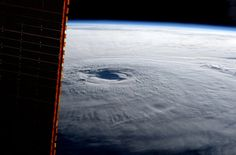 "An image of hurricane Maria taken by ESA astronaut Paolo Nespoli from on board the International Space Station on 21 September 2017. Paolo posted this image on his social media channels, commenting: ""Hurricane Maria this morning: even from here it takes up all the horizon. Stay safe, our thoughts are with you""."