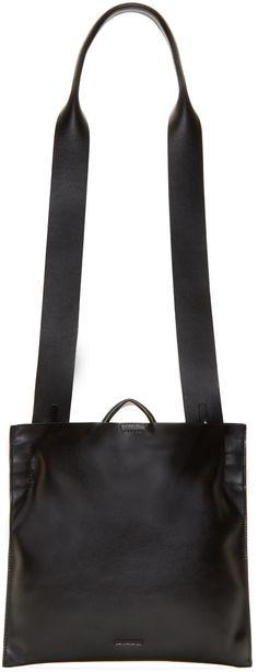 Jil Sander Black Leather Xiao Bag