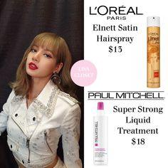 K Pop, Makeup Items, L'oréal Paris, Blackpink Fashion, Blackpink Lisa, Hairspray, Loreal, Skin Care, Makeup Style