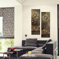 """Sade ve şık """"Gold Buttons"""" Kanvas Tablo modelimiz 2 Parça 60x90 cm ölçülerinde stoklarımızda.. #yeniürün #kanvastablo #art #tasarım"""