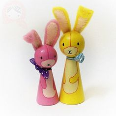 Hase-Freund  Custom-Peg-Puppe Kaninchen Hase von BolfIsh auf Etsy
