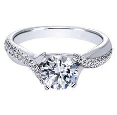 "Ben Garelick Royal Celebration Solitaire Twist ""Lydia"" Engagement Ring · ER10951W44JJ · Ben Garelick Jewelers"