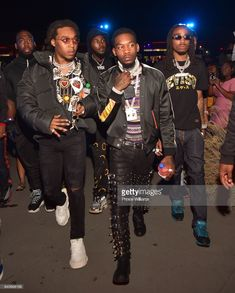 Takeoff, Offset and Quavo of Migos attend a Party at Compound on April 1, 2018 in Atlanta, Georgia.