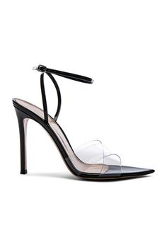 24af7be1b45 GIANVITO ROSSI Patent & Plexi Ankle Strap Stark Sandals Plexus Products, Ankle  Strap