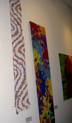 fibre art and tapestry at Craft Ontario Fibre Art, Tapestries, Floral Tie, Ontario, Fiber, Quilts, Blanket, Crafts, Hanging Tapestry