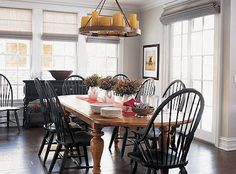 Love the black windsor chairs