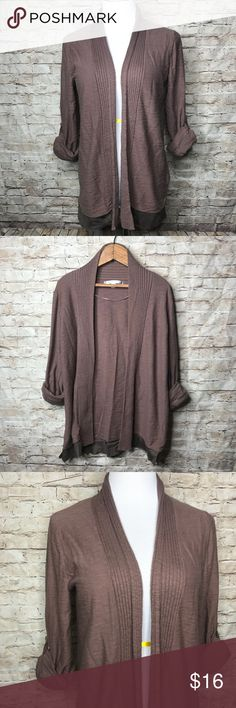 """Lauren Conrad Open Front Cardigan Sweater Excellent preowned condition  Roll tabbed Sleeves   Measurements laying flat  Underarm to underarm 19.5""""  Length 27.5""""   Measurements are approximate   Check out my other items ❤️ LC Lauren Conrad Sweaters Cardigans"""