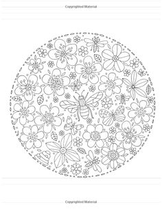 Cat Coloring Page, Adult Coloring Book Pages, Flower Coloring Pages, Mandala Coloring Pages, Colouring Pages, Coloring Sheets, Coloring Books, Floral Embroidery Patterns, Hand Embroidery Designs