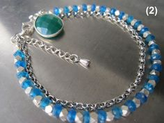 Neon Blue Apatite with Karen Hill Tribe Silver by ALORJEWELRY