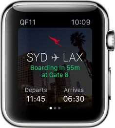 Qantas recently announced their introduction of their new Apple Watch App, weeks before the must-have travel accessory goes on sale worldwide. Using the ap. Apple Watch Apps, New Apple Watch, Must Have Travel Accessories, Wearable Technology, Smart Watch, Free Apps, How To Get, Differentiation, Watches