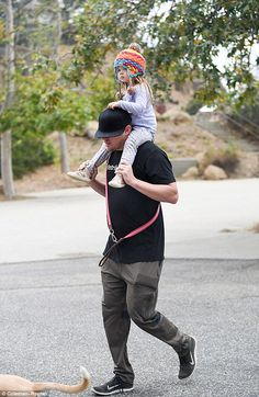 Let's go! Channing Tatum treated his daughter Everly to a ride on his shoulders during a f...