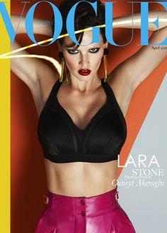 Dutch Model Lara Stone - Vogue Turkey, April 2012