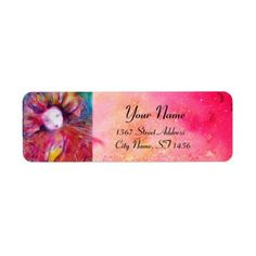#MASK IN  RED  Venetian Masquerade Pink Fuchsia Label - #tuesday #tuesdays