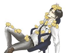 I guess you could say that he's a... CHICK MAGNET!!!! <<< Levi must secretly be German!