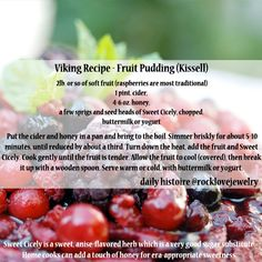 I'm drooling as I work... If you share any Viking Age dessert, make it this one! #vikings #recipe #recipeoftheday