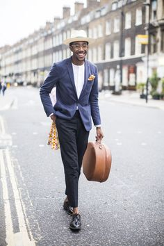 Street looks à la Fashion Week homme printemps-été 2016 de Londres, chapeau