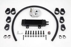 Jagg Slim Line Oil Kit Cooler with Adapter Harley Davidson FXST FXR FXD FLT #VTwinManufacturing