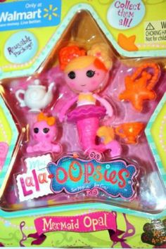 Lalaloopsy Mini Lala Oopsie Mermaid Opal by MGA Entertainment. $11.35. Brand new Mini Lala-oopsies Mermaid Opal!  Mermaid Opal is fearless, friendly and curious as can be. Eager for adventure, she often leaps before she looks! Even when things don't go as hoped, this sunny swimmer always sees the bright side. More than anything, she loves discovering new friends.