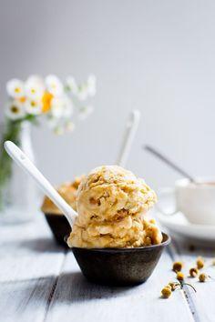 Chamomile Honeycomb Ice Cream - Snixy Kitchen - Snixy Kitchen