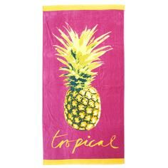 Pineapple Beach Towel (150cm x 75cm)