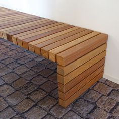 Architectonic Slender design Bench with Crosswise FSC hardwood beams Woodworking Furniture, Pallet Furniture, Woodworking Projects, Woodworking Techniques, Street Furniture, Woodworking Workbench, Woodworking Workshop, Woodworking Tools, Antique Furniture