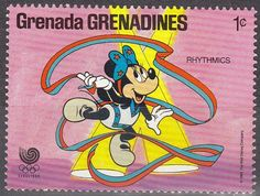 lesotho disney stamps | Sello: Grenada Grenadines 1988 Scott 939 Sello ** Walt Disney Juegos ...