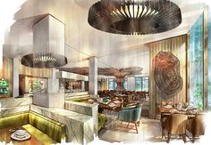 The Westin The Woodlands—Current Restaurant - Rendering | Flickr