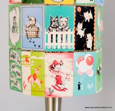 DIY Upcycled Vintage Playing Card Lampshade | My So Called Crafty Life