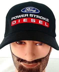 Ford PowerStroke Diesel Black Baseball Cap Hat Adjustable #Unbranded #BaseballCap