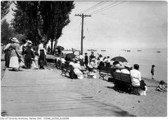 toronto, kew beach boardwalk, 1918