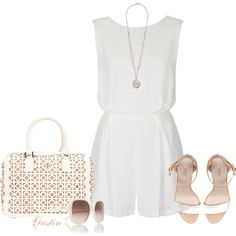 white romper by stacy-gustin on Polyvore
