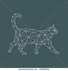 Geometric cat - vector illustration
