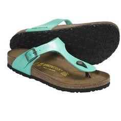 Birkenstock Gizeh Sandals - Birko-flor® (For Women) in Graceful Mint