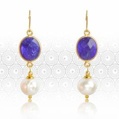 Regenz Sapphire and Pearl Retro Style Earrings Brand New by SMART Jewels Stone Jewelry, Retro Fashion, Sapphire, Brand New, Drop Earrings, Jewels, Retro Style, Pearl, Store