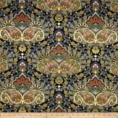 Pondicherry Metallic Paisley - A little busy but could be a cool photo booth backdrop Paisley, Timeless Treasures Fabric, Pondicherry, Photo Booth Backdrop, Barrel Chair, Home Decor Fabric, Crate And Barrel, Fabric Patterns, Hand Embroidery