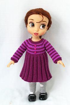 Knitting pattern for dresses for Disney von CSKraft4Dolls auf Etsy