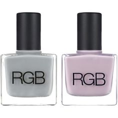 RGB Steel & Lavender Set ($36) ❤ liked on Polyvore featuring beauty products, nail care, nail polish, beauty, makeup, nails, fillers and rgb nail color